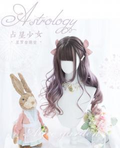 Purple Gradient Long Curly Synthetic Lolita Wig by Alice Garden