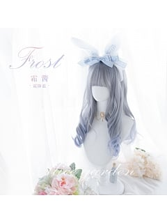 Frost Blue/Cherry Pink  Long Curly Synthetic Lolita Wig by Alice Garden