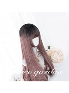 Dusty Rose Long Straight Synthetic Lolita Wig by Alice Garden