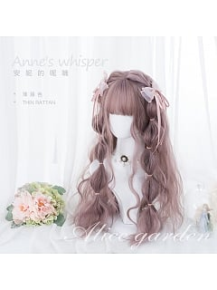 Thin Rattan Long curly Egg Roll Synthetic Lolita Wig by Alice Garden