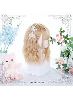 Agreement Water Ripple Short Curly Synthetic Lolita Wig by Dalao Home