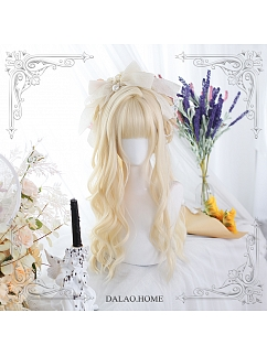 Sugar Sweet Long Curly Synthetic Lolita Wig with Bangs by Dalao Home