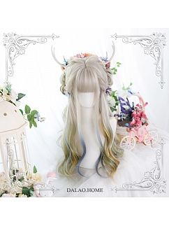 Spread To Long Micro Curly Synthetic Lolita Wig with Bangs by Dalao Home