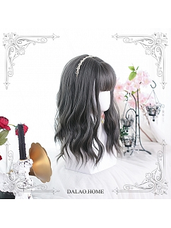 Limestone Water Ripple Mid-Length Curly Synthetic Lolita Wig by Dalao Home