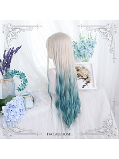 Mountain Stream Water Ripple Long Curly Synthetic Lolita Wig by Dalao Home