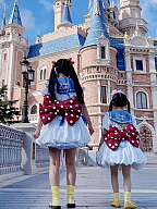 Red and White Polka Dots Bowknot Design 3 Size Options Lolita Backpack