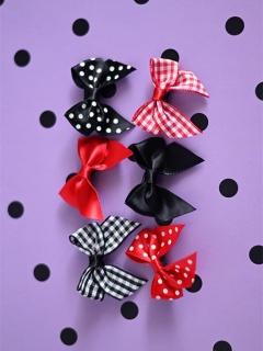 Scotland Yard Classic Lolita Dress Matching Bowknot Hairclips