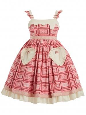 Chocolate of Love Square Neckline Sweet Lolita Dress JSK by Berry Q