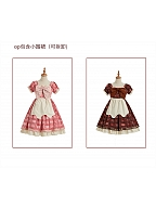 Chocolate of Love Square Neckline Short Puff Sleeves Sweet Lolita Dress OP by Berry Q