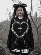 Christmas Sacrifice Gothic Long Sleeve Sweatshirt by Blood Supply