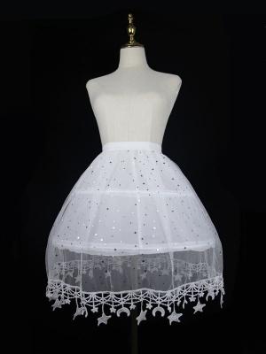 Lolita Elastic Waist Star Trimmed Fish-bone Petticoat
