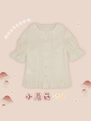 Mushroom Short Sleeves Sweet Lolita Shirt by Mewroco