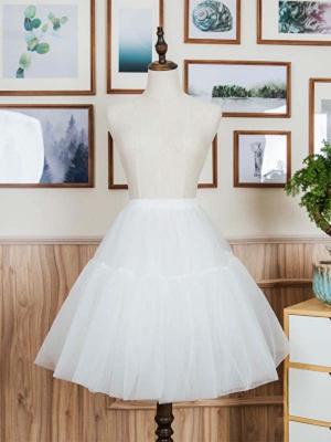 Elastic Waist Lolita Basic Tulle Petticoat by Mewroco