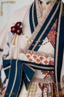 Thousands of Tsubaki Cranes Wa Lolita Empire Waist JSK II by CEL