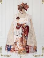 Thousands of Tsubaki Cranes Wa Lolita Baby Doll JSK III by CEL