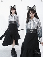 Looking for the Earl Cat Pointed Collar Couple Lolita Shirt