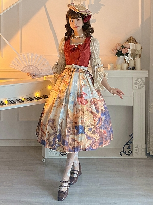 The victory of the Church Square Neckline Classic Lolita Dress JSK by Classtyle