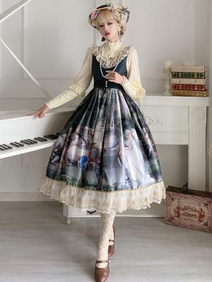 Palace Tea Party V-neck  Classic Lolita Dress JSK by Classtyle