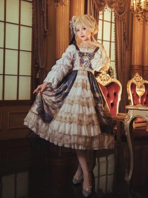 Midsummer Night's Dream Square Neckline Classic Lolita Dress JSK by Classtyle