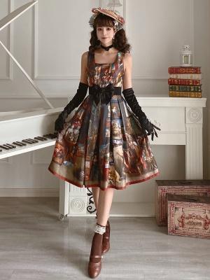 Royal Museum Square Neckline Classic Lolita Dress JSK by Classtyle