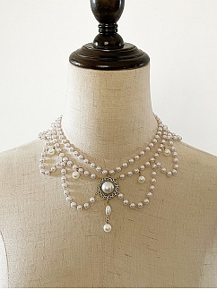 Sea of Flowers Elegant Lolita Dress Matching Choker by Classtyle