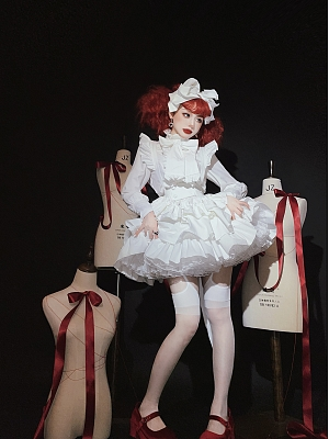 A Doll's House Tiered Skirt Gothic Lolita SK Black / White / Red Three Color Options