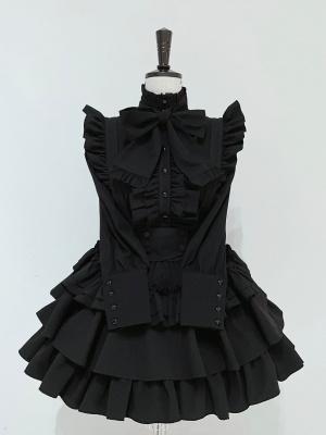 Human Shaped Gift Box High Neck Long Sleeves Gothic Lolita Shirt