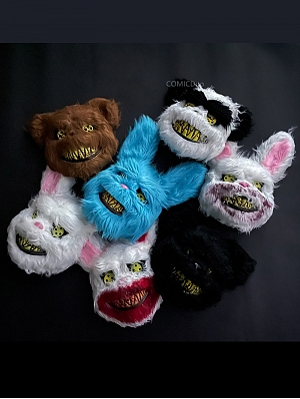 Halloween Bloody Plush Animal Bunny / Bear Mask by COMICDuo