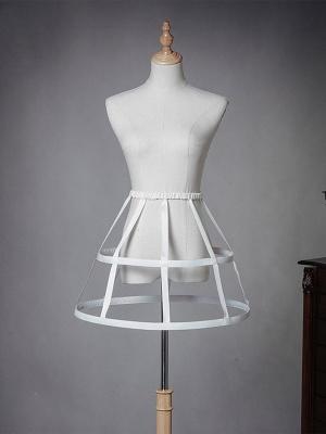 Lolita Elastic Waist Hollow Fish-bone Petticoat