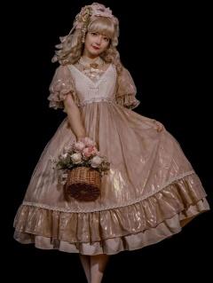 Triple Yarn Elegant Lace Lolita Dress OP Full Set