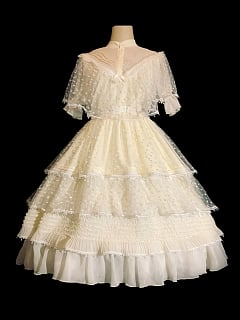 Moonlight Manor Tiered Flounce Skirt Elegant Lolita Dress OP Full Set