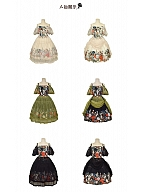Flora Short Puff Sleeves Lolita Dress OP by Crucis Universal Tailor Company