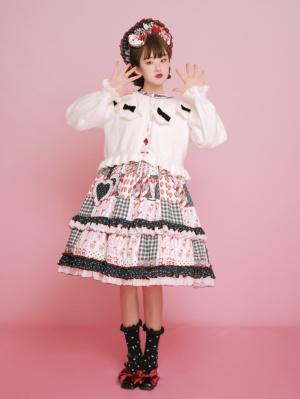 Dongguli Petal Collar Long Sleeves Lolita Short Cardigan