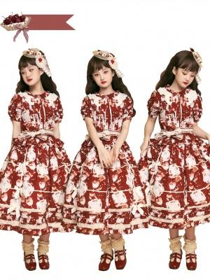 Wild Strawberry Round Neckline Short Sleeves Sweet Lolita Shirt / SK
