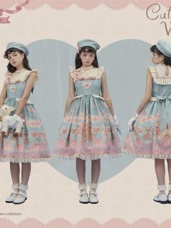 Lil Volta Stand Collar Sweet Lolita Dress JSK