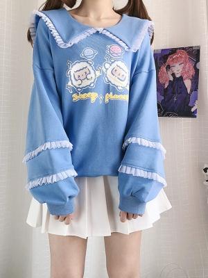 Sheep Planet Sweatshirt by Catwish
