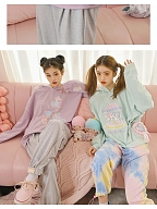 Sanrio Authorized Little Twin Stars Long Sleeves Loose Hoodie by Dear Chestunt