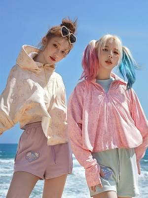 Sanrio Authorized Little Twin Stars Hooded Long Sleeves UV Sun Protection Clothing  by Dear Chestunt