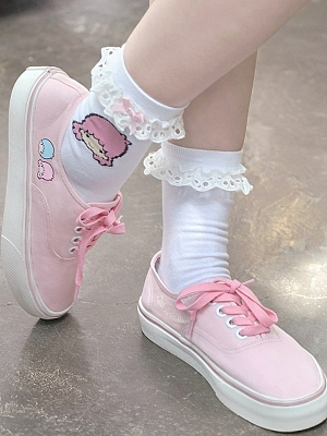 Sanrio Authorized Little Twin Stars Print Canvas Shoes by Dear Chestunt