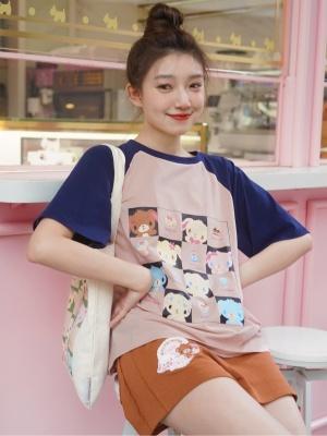 Sanrio Authorized Sugarbunnies Round Neckline Short Sleeves T-shirt by Dear Chestunt