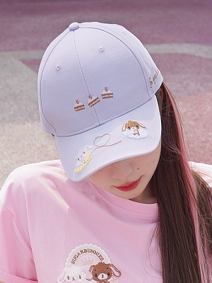 Sanrio Authorized Sugarbunnies Embroidered Baseball Cap by Dear Chestunt