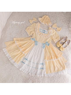 Mystery Girl Sweet Lolita Dress Matching Hat / Hairclips by Demon Infested