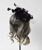 Handmade Gothic Lolita Black Swan Mini Top Hat Hairpin by Dominum Gloria