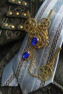 Handmade Gothic Steampunk Magic Mechanism Gear Brooch by Dominum Gloria