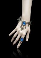 Handmade Gothic Vintage Fettered Butterfly Cross Bracelet by Dominum Gloria