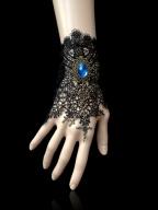 Handmade Gothic Lolita Revelation Under the Rose Window Lace Bracelet by Dominum Gloria