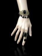 Handmade Gothic Earl's Bride Vampire Bracelet by Dominum Gloria