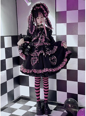 Lolita Bunny Dark Sweet Set Top / Skirt by Diamond Honey