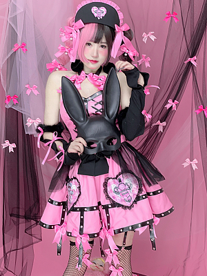 Taboo Doll Love and Desire Sexy Girls Pink Top / Puff Skirt by Diamond Honey