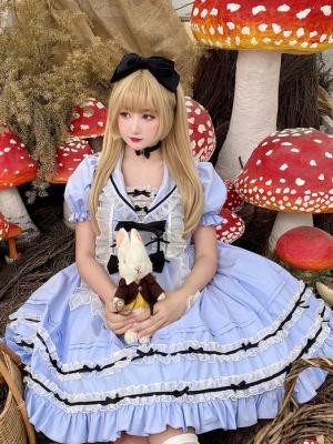 Secret Realm Alice Sailor Collar Lolita Dress OP Set